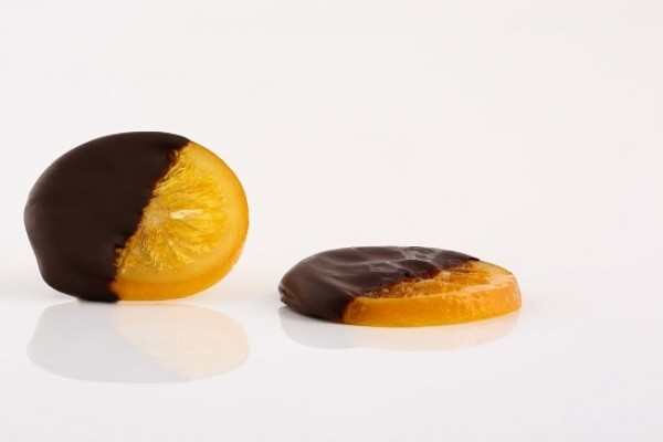 Orange Slices Dipped in Chocolate