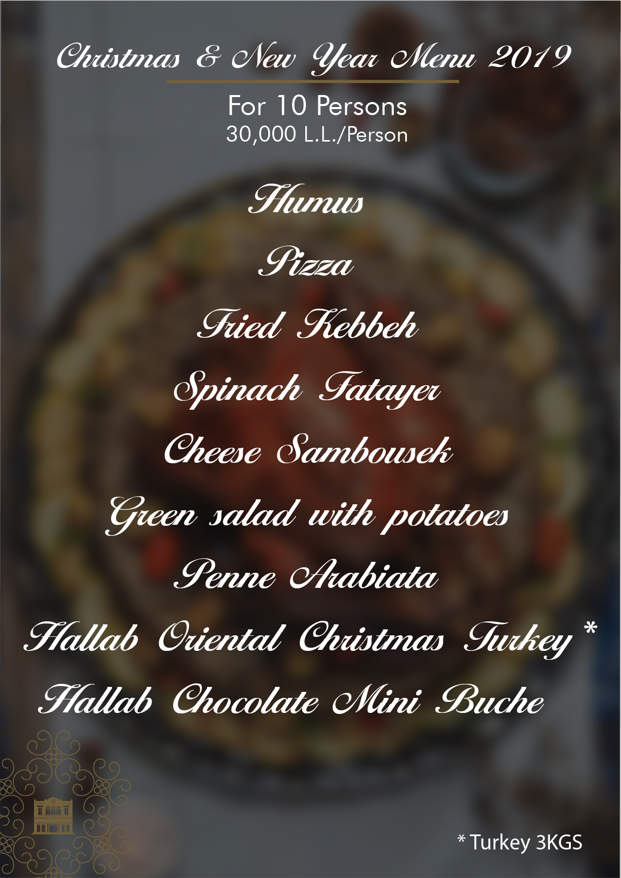 Christmas & New Year Menu 10 Prs